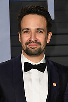 04 March 2018 - Los Angeles, California - Lin-Manuel Miranda. 2018 Vanity Fair Oscar Party hosted following the 90th Academy Awards held at the Wallis Annenberg Center for the Performing Arts. <br /> CAP/ADM/BT<br /> &copy;BT/ADM/Capital Pictures