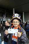 LONDON, ENGLAND - MAY 20: 2011-12 A Luton Fan prior to the Blue Square Bet Conference League promotion final between Luton Town FC and York City FC at Wembley Stadium on May 20, 2012 in London, England. (Photo by Dave Horn - Extreme Aperture Photography)
