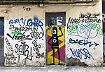 Valencia-Spain, January 13, 2018; <br /> street art / graffiti by i.a. David de Limón (Limon);<br /> Photo © HorstWagner.eu