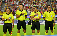 IBAGUE-COLOMBIA, 22-02-2020: Carlos Mario Herrera, (2 Der.) arbitro, durante partido entre Deportes Tolima y Atletico Junior de la fecha 6 por la Liga BetPlay DIMAYOR I 2020, jugado en el estadio Manuel Murillo Toro de la ciudad de Ibague. / Carlos Mario Herrera, (2 R) referee, during a match between Deportes Tolima and Atletico Junior of the 6th date for the Liga BetPlay DIMAYOR I 2020, played at Manuel Murillo Toro stadium in Ibague city. / Photo: VizzorImage / Juan Carlos Escobar / Cont.