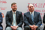 (left-right) Michael Wood, Iain Roberts attend the press conference at the beginning of World Ladies Championship 2016 on 09 March 2016 at Mission Hills Olazabal Golf Course in Dongguan, China. Photo by Victor Fraile / Power Sport Images