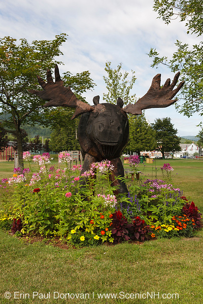 Town Park at the junction of Routes 16 and 2 in Gorham, New Hampshire USA.