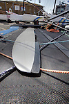 Details of the Nacra F18 Infusion at the Eurocat 2011, the great catamaran in Carnac, Brittany, France.