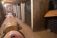 Clos Bagatelle St Chinian. Languedoc. Barrel cellar. Bottle cellar. France. Europe. Bottle.