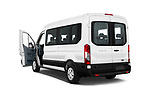 Car images close up view of a 2019 Ford Transit Wagon 350 XLT Wagon Med Roof Sliding Pass. 148 5 Door Passenger Van doors