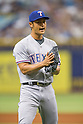 Yu Darvish (Rangers),<br /> APRIL 6, 2014 - MLB :<br /> Yu Darvish of the Texas Rangers during the baseball game against the Tampa Bay Rays at Tropicana Field in St. Petersburg, Florida, United States. (Photo by Thomas Anderson/AFLO) (JAPANESE NEWSPAPER OUT)