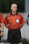 26 September 2013: Referee Peter Dhima. The Duke University Blue Devils hosted the University of Virginia Cavaliers at Koskinen Stadium in Durham, NC in a 2013 NCAA Division I Women's Soccer match. Virginia won the game 3-2.