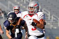2015 NJSIAA High School Football Championships:  North 2, Group 1 final - Hoboken Redwings vs Brearley Bears at Kean University Alumni Stadium, Union, NJ, Saturday, December 5, 2015.  Hoboken defeated Brearley by the score of 34 - 12.