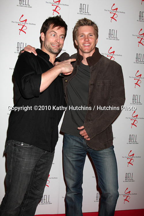 Michael Muhney & Thad Luckinbill.arrivng at The Young & The Restless 37th Anniversary Dinner.Via Allorro.Beverly Hills, CA.March 9, 2010.©2010 Kathy Hutchins / Hutchins Photo....
