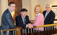 Former Kerry footballer darragh O'Se, Deputy Michael Healy-Rae, Barry Egan and  John O'Dywer, son of Micko Dwyer pictured at the Barry Egan Kerry people meeting in The Brehon Hotel, Killarney.<br /> Picture by Don MacMonagle