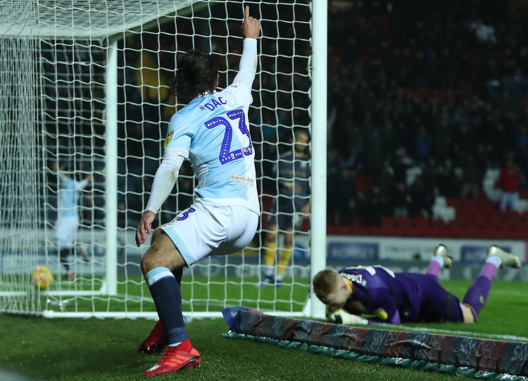 Blackburn Rovers' Bradley Dack celebrates scoring his side's second goal <br /> <br /> Photographer Rachel Holborn/CameraSport<br /> <br /> The EFL Sky Bet Championship - Blackburn Rovers v Sheffield Wednesday - Saturday 1st December 2018 - Ewood Park - Blackburn<br /> <br /> World Copyright &copy; 2018 CameraSport. All rights reserved. 43 Linden Ave. Countesthorpe. Leicester. England. LE8 5PG - Tel: +44 (0) 116 277 4147 - admin@camerasport.com - www.camerasport.com