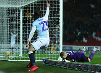 Blackburn Rovers' Bradley Dack celebrates scoring his side's second goal <br /> <br /> Photographer Rachel Holborn/CameraSport<br /> <br /> The EFL Sky Bet Championship - Blackburn Rovers v Sheffield Wednesday - Saturday 1st December 2018 - Ewood Park - Blackburn<br /> <br /> World Copyright © 2018 CameraSport. All rights reserved. 43 Linden Ave. Countesthorpe. Leicester. England. LE8 5PG - Tel: +44 (0) 116 277 4147 - admin@camerasport.com - www.camerasport.com