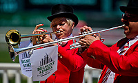 ELMONT, NY - JUNE 10: The bugle-players on Belmont Stakes Day at Belmont Park on June 10, 2017 in Elmont, New York (Photo by Scott Serio/Eclipse Sportswire/Getty Images)
