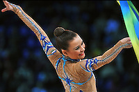 "ULYANA TROFIMOVA of Uzbekistan performs in Event Finals at 2011 World Cup Kiev, ""Deriugina Cup"" in Kiev, Ukraine on May 8, 2011."