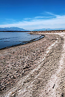 A winter day in the decaying wasteland of the Salton Sea, California, USA.
