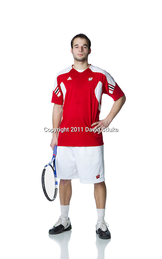 2010-11 Wisconsin Badgers Petr Satral of the men's tennis team in Madison, Wisconsin on January 18, 2011. (Photo by David Stluka)