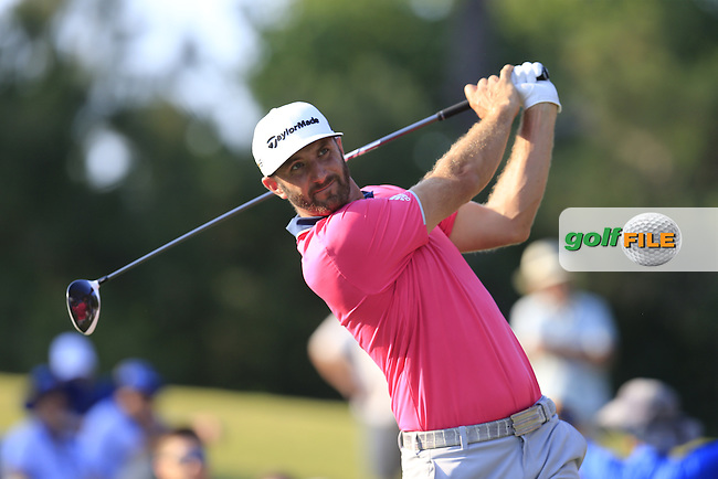 Dustin Johnson (USA) during round 1of the Players, TPC Sawgrass, Championship Way, Ponte Vedra Beach, FL 32082, USA. 12/05/2016.<br /> Picture: Golffile | Fran Caffrey<br /> <br /> <br /> All photo usage must carry mandatory copyright credit (&copy; Golffile | Fran Caffrey)