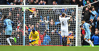 Swansea City players react as Manchester City's Gabriel Jesus scores the second goal during the Premier League match between Manchester City and Swansea City at the Etihad Stadium, Manchester, England. Sunday 05 February 2017