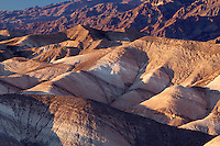 bad land area under Grapevine Mountains, Death Valley National Park, Californi