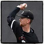 Starting pitcher Kevin Hickey (32) of the University of South Carolina Upstate Spartans begins a game against the Kentucky Wildcats in the rain on Saturday, February 17, 2018, at Cleveland S. Harley Park in Spartanburg, South Carolina. (Tom Priddy/Four Seam Images)