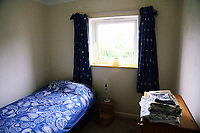 Pictured: One of the bedrooms. Tuesday 11 July 2017<br /> Re: A family of Syrian refugees will be given accommodation in Narberth, Pembrokeshire, Wales, UK.
