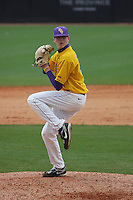 East Carolina University Pirates pitcher Jeff Hoffman #30 pitching during a game against the Stony Brook Seawolves  at Clark-LeClair Stadium on March 4, 2012 in Greenville, NC.  East Carolina defeated Stony Brook 4-3. (Robert Gurganus/Four Seam Images)