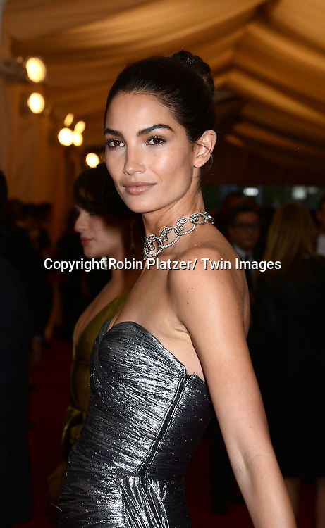 Lily Aldridge attends the Costume Institute Benefit on May 5, 2014 at the Metropolitan Museum of Art in New York City, NY, USA. The gala celebrated the opening of Charles James: Beyond Fashion and the new Anna Wintour Costume Center.