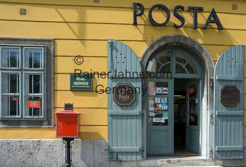 HUN, Ungarn, Budapest, Stadteil Buda, Burgviertel: Postamt am Paradeplatz (Dísz ter) | HUN, Hungary, Budapest, Castle District: post office at Parade Square (Dísz ter)
