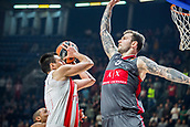 9th February 2018, Aleksandar Nikolic Hall, Belgrade, Serbia; Euroleague Basketball, Crvenz Zvezda mts Belgrade versus AX Armani Exchange Olimpia Milan; Forward Vladimir Micov of AX Armani Exchange Olimpia Milan blocks Center Milko Bjelica of Crvena Zvezda mts Belgrade