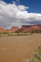 Kayaking on the Colorado River, near Moab, Utah