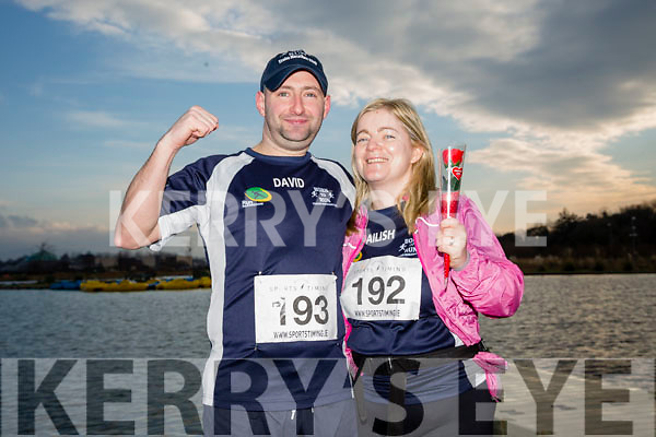 David Hughes and Ailish Hughes, pictured after the Kerry's Eye Valentines Weekend 10 mile road race on Sunday.