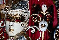 Karnevalsmasken in Venedig, Italien