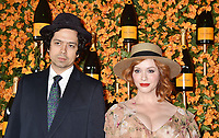 PACIFIC PALISADES, CA - OCTOBER 06: Geoffrey Arend and Christina Hendricks arrive at the 9th Annual Veuve Clicquot Polo Classic Los Angeles at Will Rogers State Historic Park on October 6, 2018 in Pacific Palisades, California.<br /> CAP/ROT/TM<br /> &copy;TM/ROT/Capital Pictures