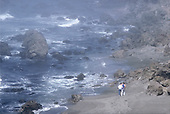 Couple on Beach, Mendocino County, California (NC)