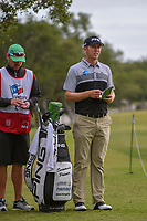 Seamus Power (IRL) looks over his approach shot on 1 during Round 2 of the Valero Texas Open, AT&T Oaks Course, TPC San Antonio, San Antonio, Texas, USA. 4/20/2018.<br /> Picture: Golffile | Ken Murray<br /> <br /> <br /> All photo usage must carry mandatory copyright credit (© Golffile | Ken Murray)