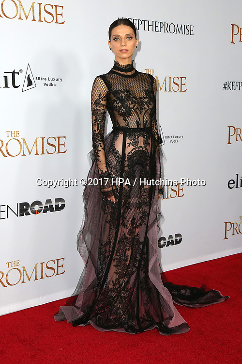 """LOS ANGELES - APR 12:  Angela Sarafyan at the """"The Promise"""" Premiere at the TCL Chinese Theater IMAX on April 12, 2017 in Los Angeles, CA"""