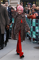 NEW YORK, NY - NOVEMBER 09: Cyndi Lauper at AOL BUILD on November 9, 2017 in New York City. Credit: Diego Corredor/MediaPunch /NortePhoto.com
