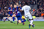 UEFA Champions League 2017/2018.<br /> Round of 16 2nd leg.<br /> FC Barcelona vs Chelsea FC: 3-0.<br /> Jordi Alba vs Victor Moses.
