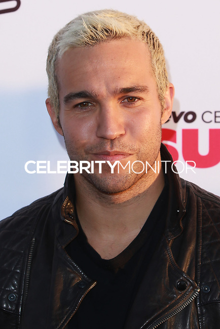 SANTA MONICA, CA, USA - OCTOBER 08: Pete Wentz arrives at the Vevo CERTIFIED SuperFanFest held at Barkar Hangar on October 8, 2014 in Santa Monica, California, United States. (Photo by David Acosta/Celebrity Monitor)