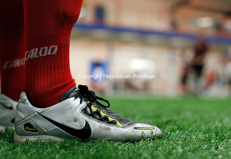 Waterbury, CT-10, June 2010-061010CM20 A player stands on the sidelines and watches his team play inside the United Athletic Center in Waterbury.  The popularity of soccer in the United States as grown over the past few years, with more fans watching the World Cup. --Christopher Massa Republican-American