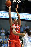 28 November 2012: Ohio State's Ashley Adams. The University of North Carolina Tar Heels played the Ohio State University Buckeyes at Carmichael Arena in Chapel Hill, North Carolina in an NCAA Division I Women's Basketball game. UNC won the game 57-54.