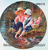 CHILDREN, KINDER, NIÑOS, paintings+++++,USLGSK0171,#K#, EVERYDAY ,Sandra Kock, victorian