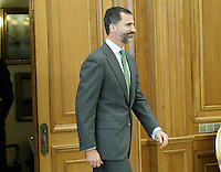 Prince Felipe of Spain during a meeting with a group of Hispanic leaders in the United States.December 10 ,2012. (ALTERPHOTOS/Acero) /NortePhoto