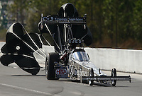 Mar 14, 2015; Gainesville, FL, USA; NHRA top fuel driver Dave Connolly during qualifying for the Gatornationals at Auto Plus Raceway at Gainesville. Mandatory Credit: Mark J. Rebilas-