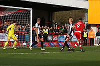 Ollie Palmer of Crawley Town scores the first goal for his team during Crawley Town vs Grimsby Town, Sky Bet EFL League 2 Football at Broadfield Stadium on 9th March 2019