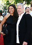 """Actor Ron Perlman (R) and daughter Blake arrive at the 2008 Los Angeles Film Festival's """"HellBoy: II The Golden Army"""" Premiere at the Mann Village Westwood Theater on June 28, 2008 in Westwood, California."""