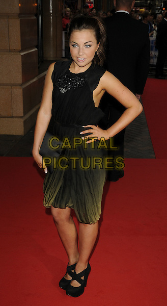 "LOUISA LYTTON.""The Firm"" UK Premiere, Vue West End cinema, Leicester Square, London, England..September 10th, 2009.full length black shoes sleeveless dress faded dip dye clutch bag hand on hip.CAP/CAN.©Can Nguyen/Capital Pictures."