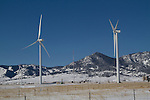 Wind farm in winter, Boulder, Colorado, .  John leads private photo tours in Boulder and throughout Colorado. Year-round Boulder photo tours.