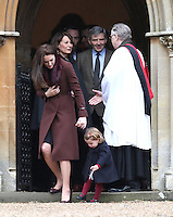 25 December 2016 - Princess Kate Duchess of Cambridge, and Princess Charlotte with Carole Middleton, Michael Middleton and James Middleton attend a morning Christmas Day service at St Mark's Church in Englefield, Berkshire. Photo Credit: Alpha Press/AdMedia