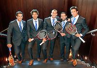 05-05-10, Zoetermeer, SilverDome, Tennis,  Davis Cup, Netherlands-Italy, Dutch team in Official clothes, l.t.r.: Jesse Huta Galung, Robin Haase, Thiemo de Bakker, Raemon Sluiter and Igor Sijsling